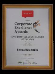 CIGNEXDatamatics Solution Provider Of the Year