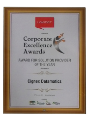 CIGNEXDatamatics Solution Provider Of the Year